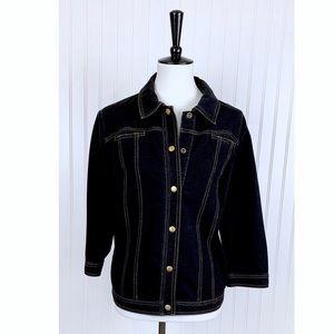 Chico's Zenergy Stretch Dark Wash Denim Jacket